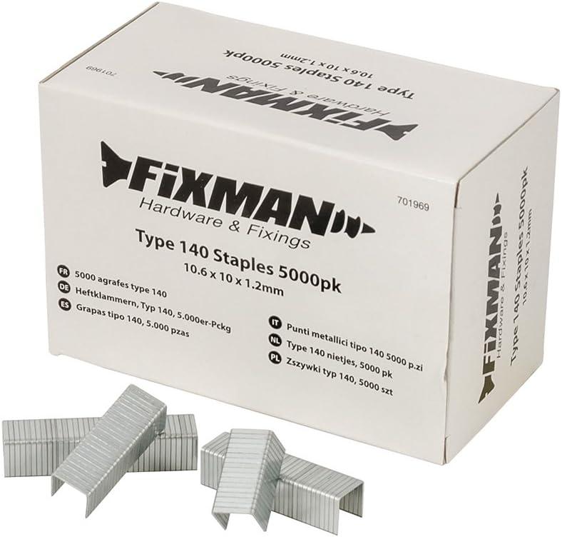 FIXMAN type 140 Staples 5000 Pack 10.6 x 10 1.2 mm