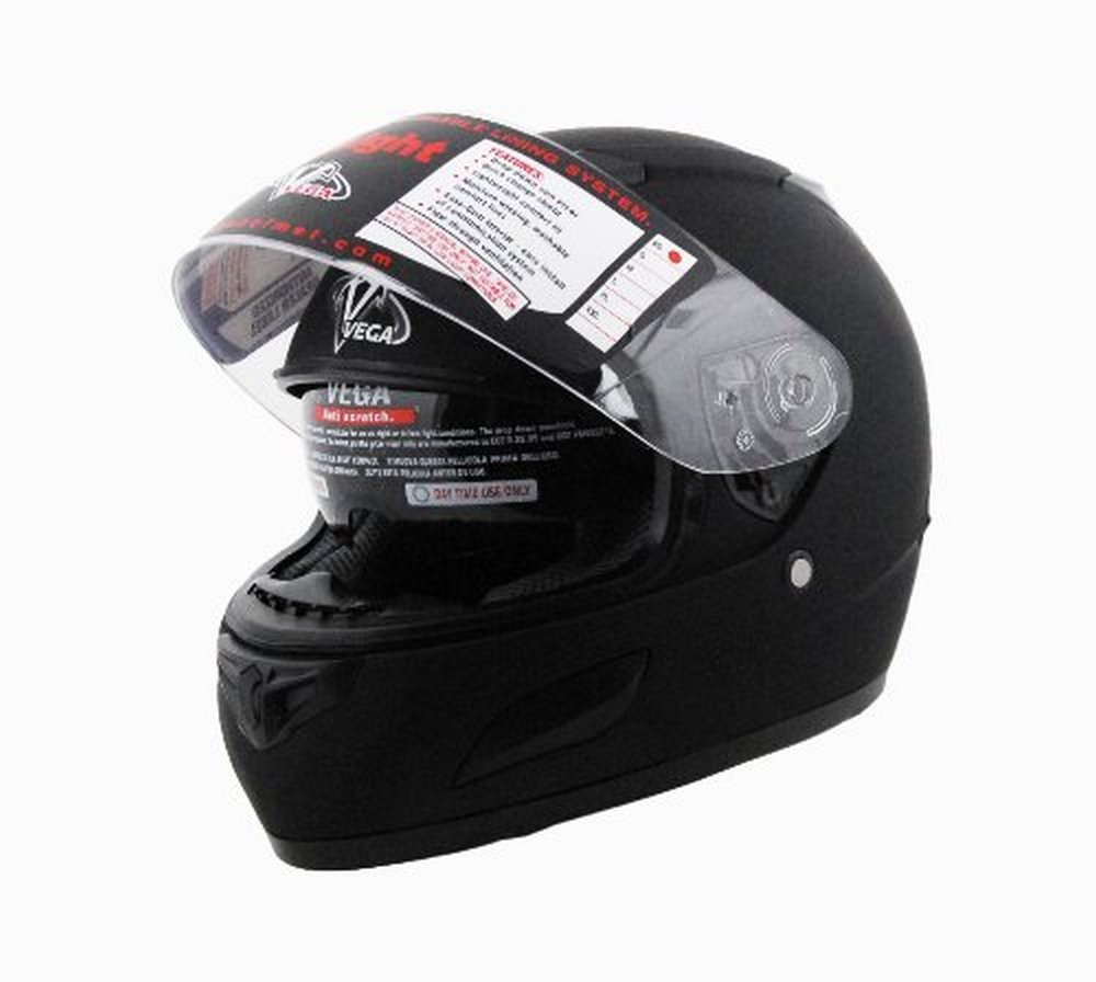 Amazon.com: Vega Insight Full Face Helmet with Quick Release Chin Strap (Gloss Black, Large): Automotive