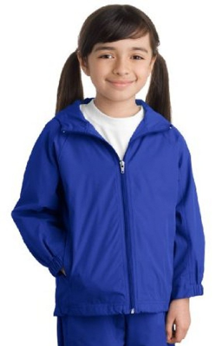 Sport-Tek Youth Stylish Sporty Hooded Raglan Sleeve Jacket - X-Small - True R...