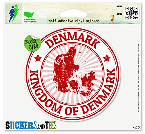 Denmark Vinyl Car Bumper Window Sticker 2