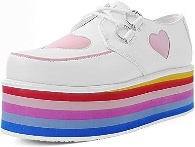 Pink Heart Rainbow Platform Creepers