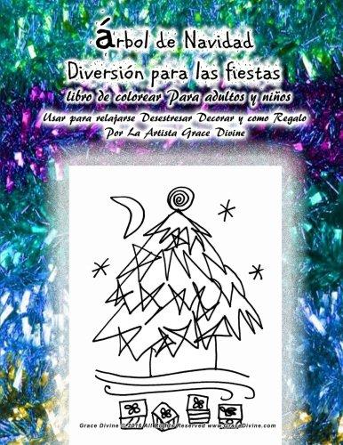 Arbol de Navidad Diversion para las fiestas libro de colorear Para ...