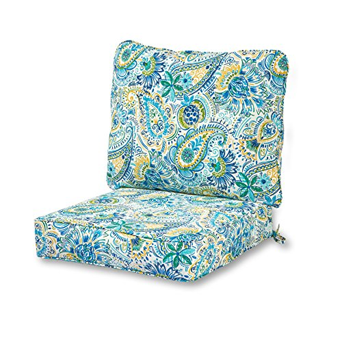 Greendale Home Fashions Deep Seat Cushion Set in Baltic (Sale Cushions Outdoor Seat Patio)