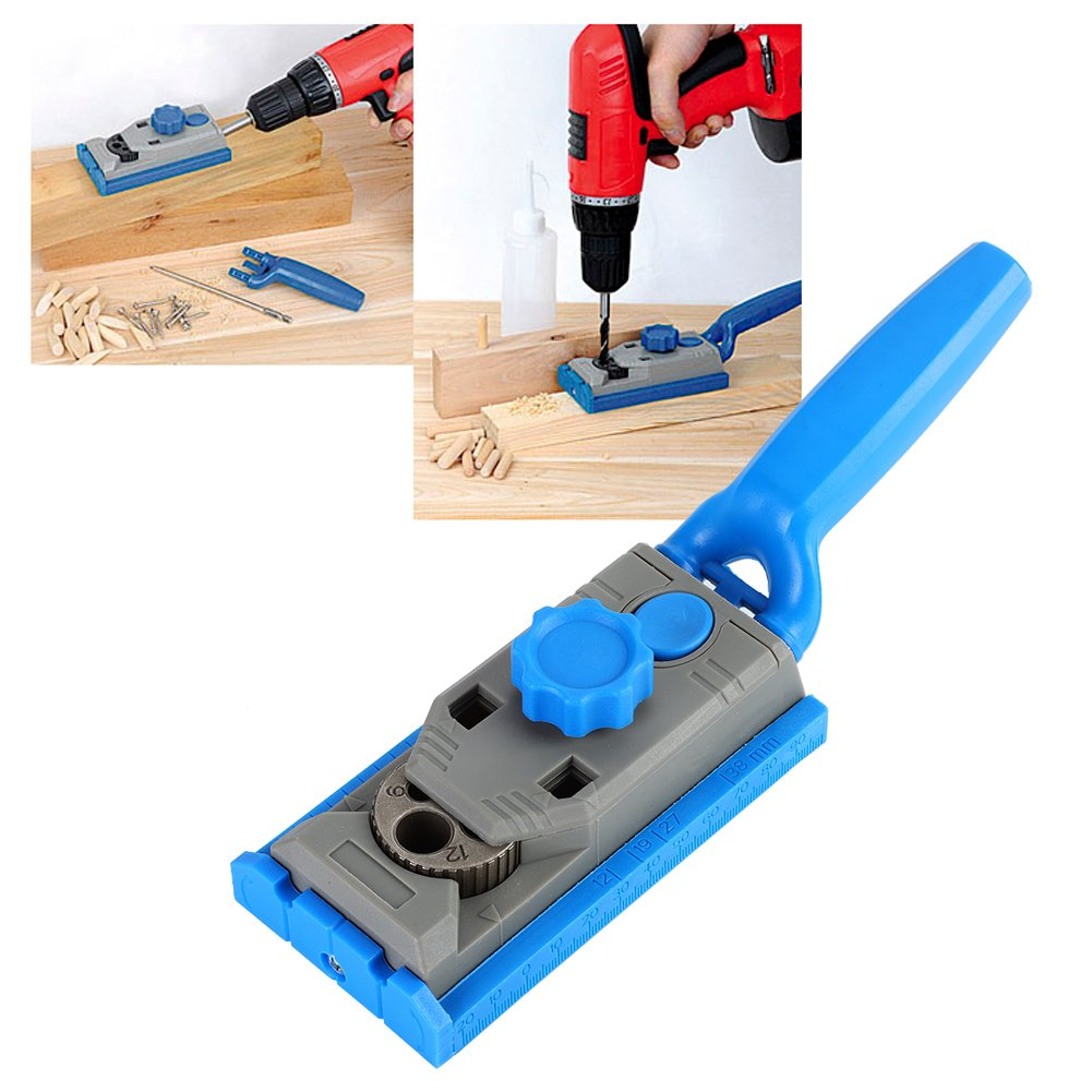Pocket Jig Drill Guider, 6/8/10/12 mm Mini Hole Drilling Guide Wood Doweling Joint Woodworking Carpentry Locator Tool by Walfront (Image #2)