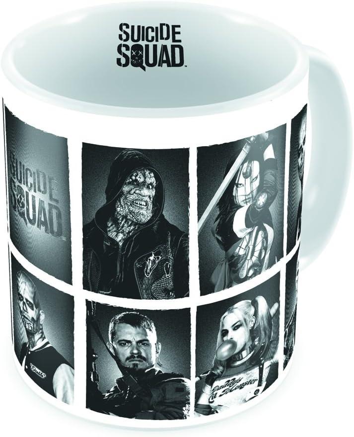 SD toys Suicide Squad Taza, Cerámica, Blanco, 13 cm: Amazon.es: Hogar