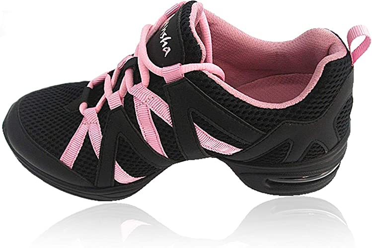 Skazz by Sansha Womens Dance Studio Exercise Sneakers Mesh Suede Mercury