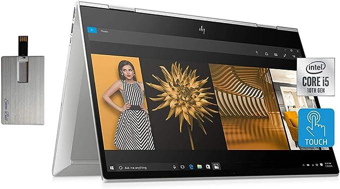 "Amazon.com: 2020 HP Envy x360 2-in-1 15.6"" FHD Touchscreen Laptop Computer, Intel Core i5-10210u, 8GB RAM, 512GB PCIe SSD, Intel UHD Graphics, B&O Audio, HD Webcam, Windows 10, Silver, 32GB Snow Bell USB Card: Computers & Accessories"