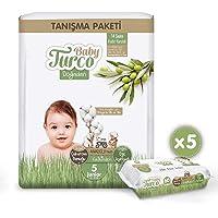 Baby Turco Doğadan Tanışma Paketi 5 Numara Junior + 5x60 Baby Turco Doğadan Islak Havlu