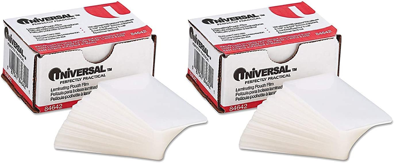 5 Mil 4-3//8 X 6-1//2, UNIVERSAL OFFICE PRODUCTS 84680 Clear Laminating Pouches