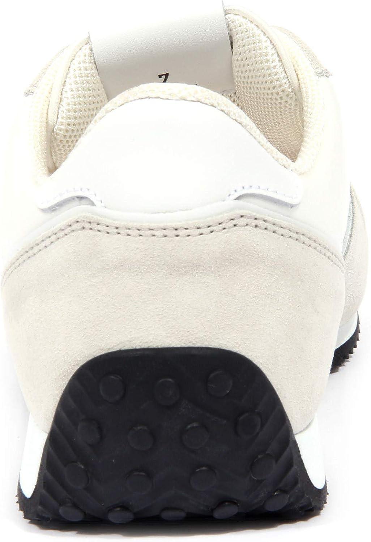 4137J Sneaker Uomo Off White/Grey Tod'S Scarpe Fabric/Suede Shoe Man Grigio Bianco