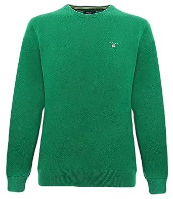 Gant Suéter Verde Lana de Cordero para Hombre.: Amazon.es: Ropa y accesorios