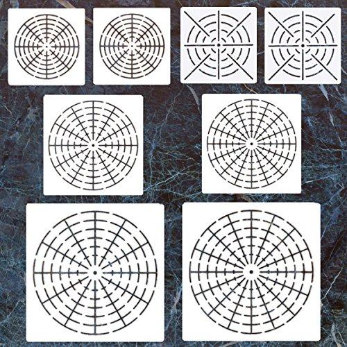 8 Pack Mandala Dotting Stencils Template,Mandala Dotting Stencils Mandala Dot Painting Stencils Painting Stencils for Painting on Wood,Airbrush and Walls Art,8/12/16 Segment