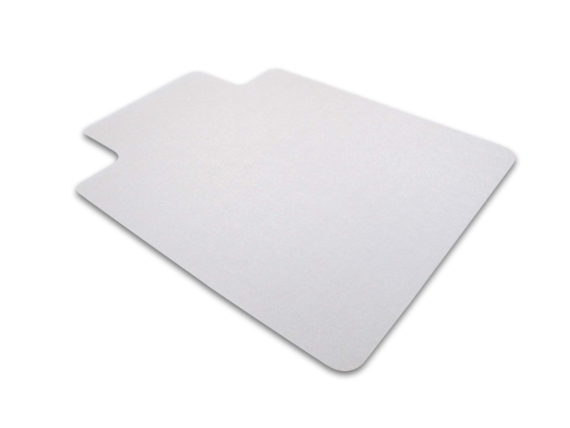 Cleartex Ultimat Chair Mat, Rectangular With Lip, Clear Polycarbonate, For Hard Floor, 48'' x 60'' (FR1215219LR)
