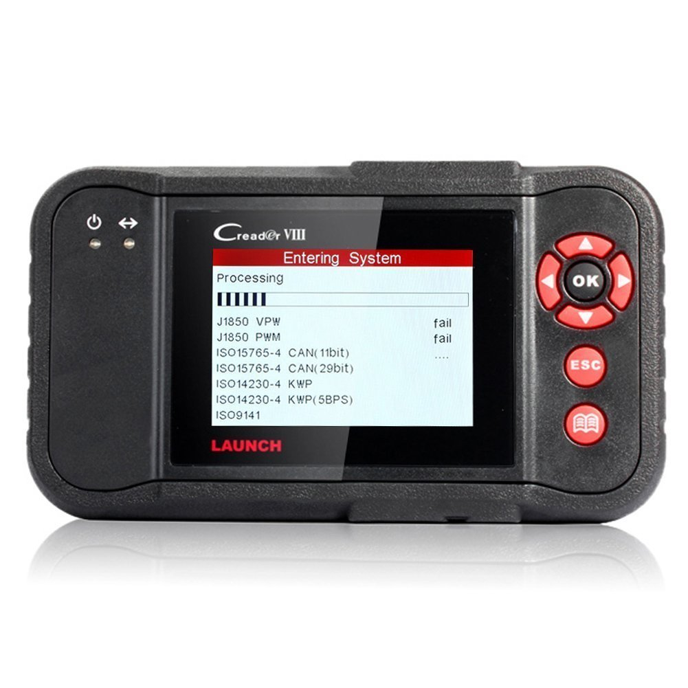 Launch X431 OBD2 Scan Tool Viii Vehicle Code Reader for ENG/AT/ABS/SRS/EPB/SAS/Oil Service Light Resets