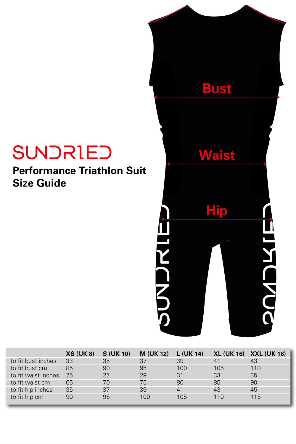 Sundried Womens Premium Padded Triathlon Tri Suit Compression Duathlon Running Swimming Cycling Skin Suit (XX-Large) by Sundried (Image #7)