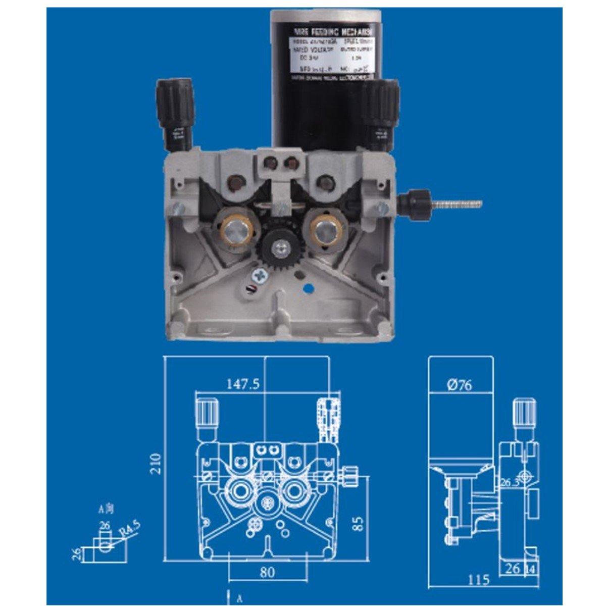 DC 24V Welding Wire Feeding Assembly Wire Feeder for MIG//MAG Welder Welding Machine