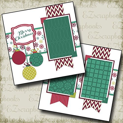 (CHRISTMAS BANNERS - Premade Scrapbook Pages - EZ Layout 567)