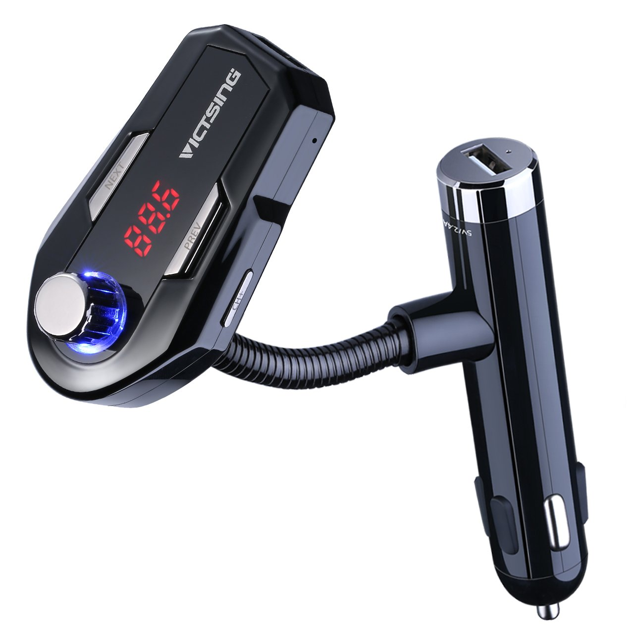 with two usb charging ports victsing car mp3 player fm transmitter bluetooth handsfree car