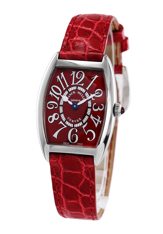 フランクミュラー トノーカーベックス レッドカーペット クロコレザー 腕時計 レディース FRANCK MULLER 1752 M QZ[並行輸入品] B073KW46WX