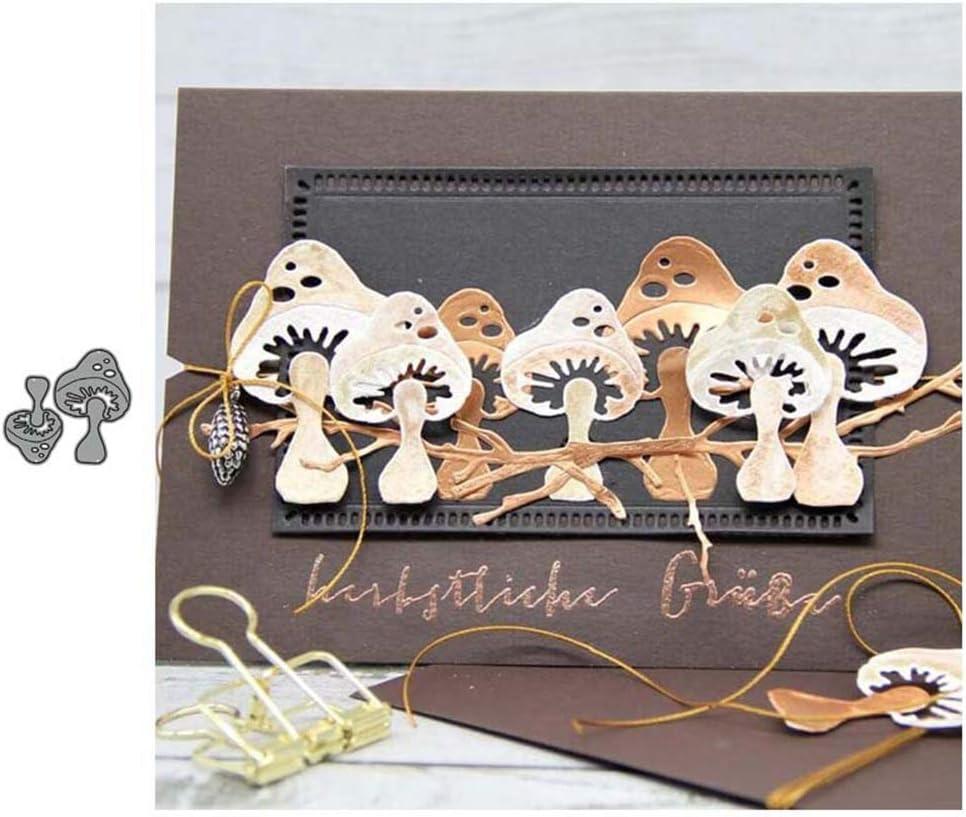 Huangzhiping Fungo Metallo Fustelle Scrapbooking Album Carta Carte Decorativo Craft Rilievo Die Taglio Regalo