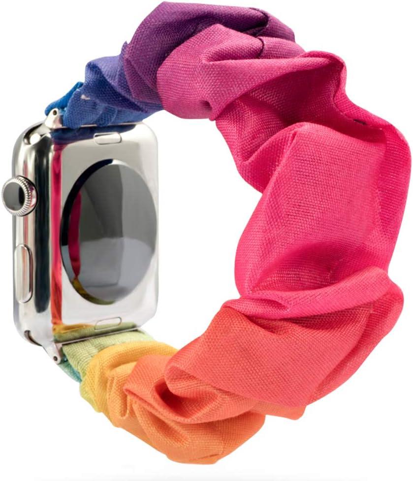 Scrunchie - Correa de Reloj para Apple Watch, Suave y elástica, Compatible con Iwatch Series 1 – 5, 38 mm/40 mm, 42 mm/44 mm