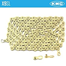 KMC X9SL Mountain Road Bike Chain Ti & Gold for Shimano Sram 9 Speed by KMC