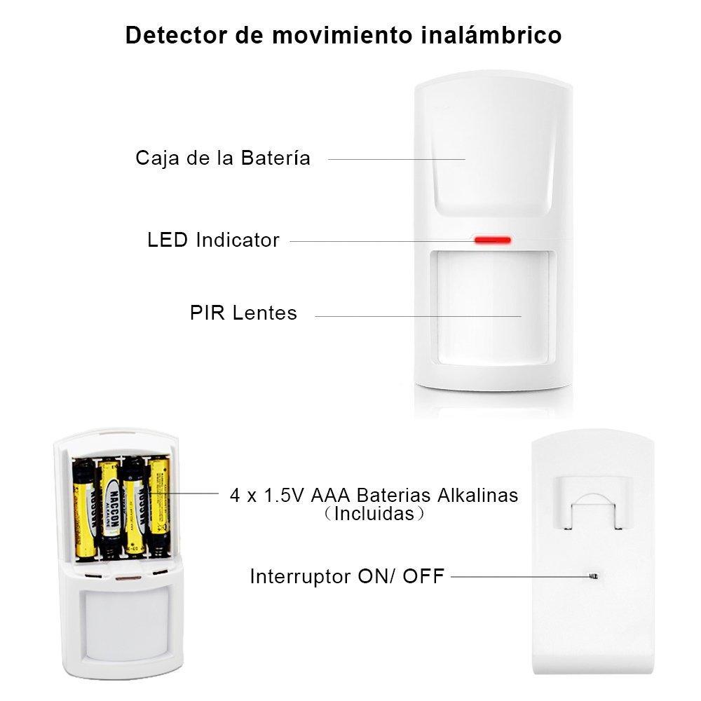 APC Sistema de Alarma M2G Inalámbrica GSM, 2 Tarjetas RFID, Servicio + Garantía, Voz APP y Manual en Castellano, 99 Zonas, pilas incluidas, ...