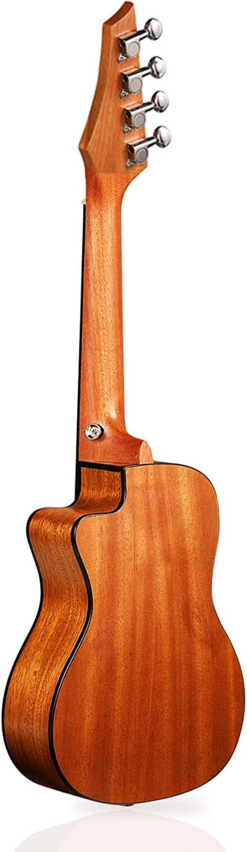 Concert Ukulele Manao 23 Inch Eagle Cutaway Electric Guitar Headstock Ukelele Beginners Kit Professional Ukele Instrument Pack Bundle with Gig Bag Tuner Strap Aquila Strings Set