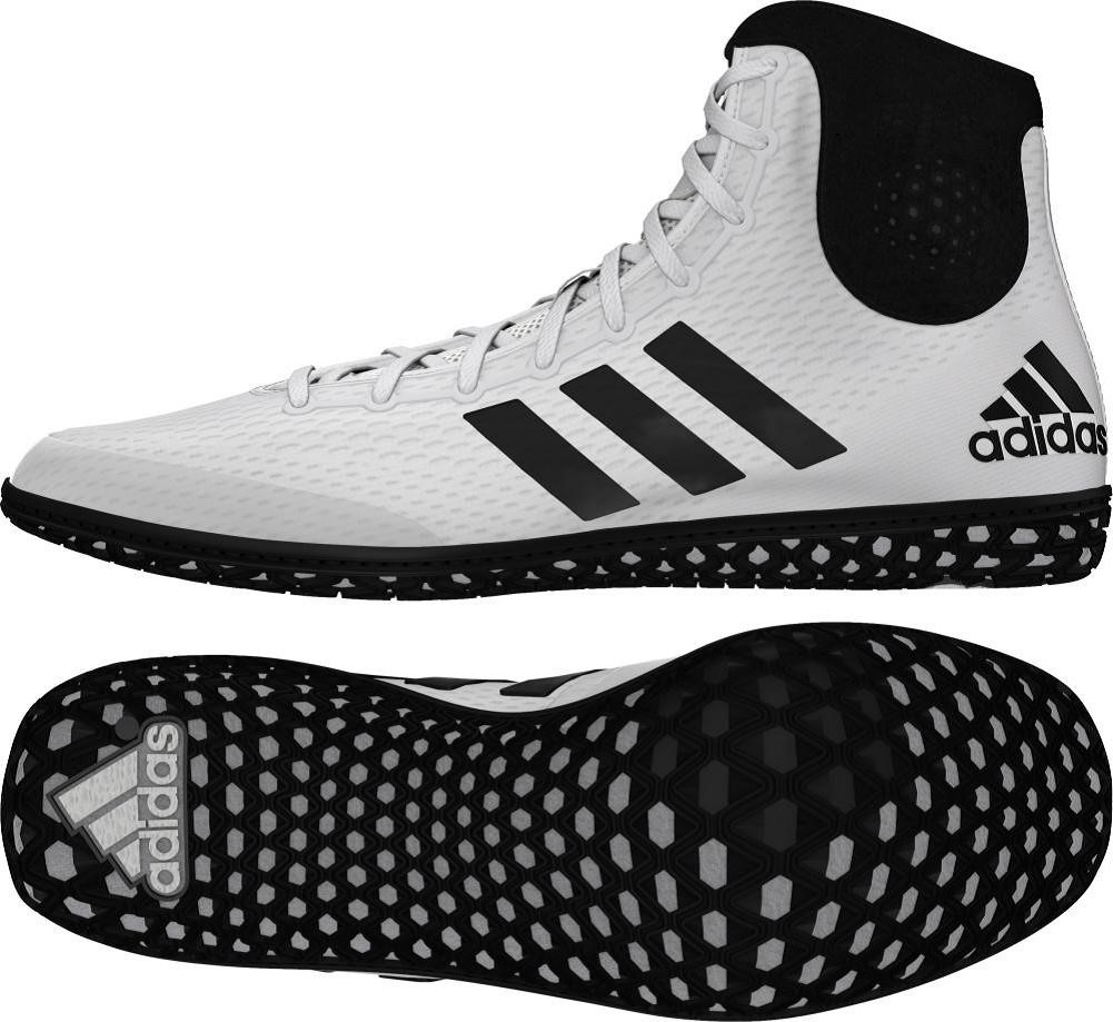 Adidas Tech Fall Wrestling Shoes - White/Black - 8 by adidas