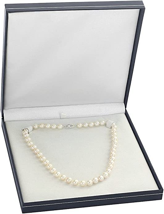 """Fashion belle 6 mm Turquoise White Cultured Pearl Necklace 50 /""""PN186"""
