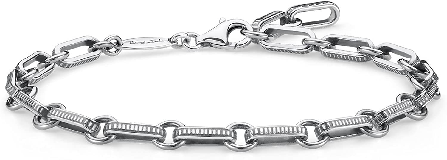 Thomas Sabo Pulsera Rebel at Heart de Mujer, Plata de Ley 925