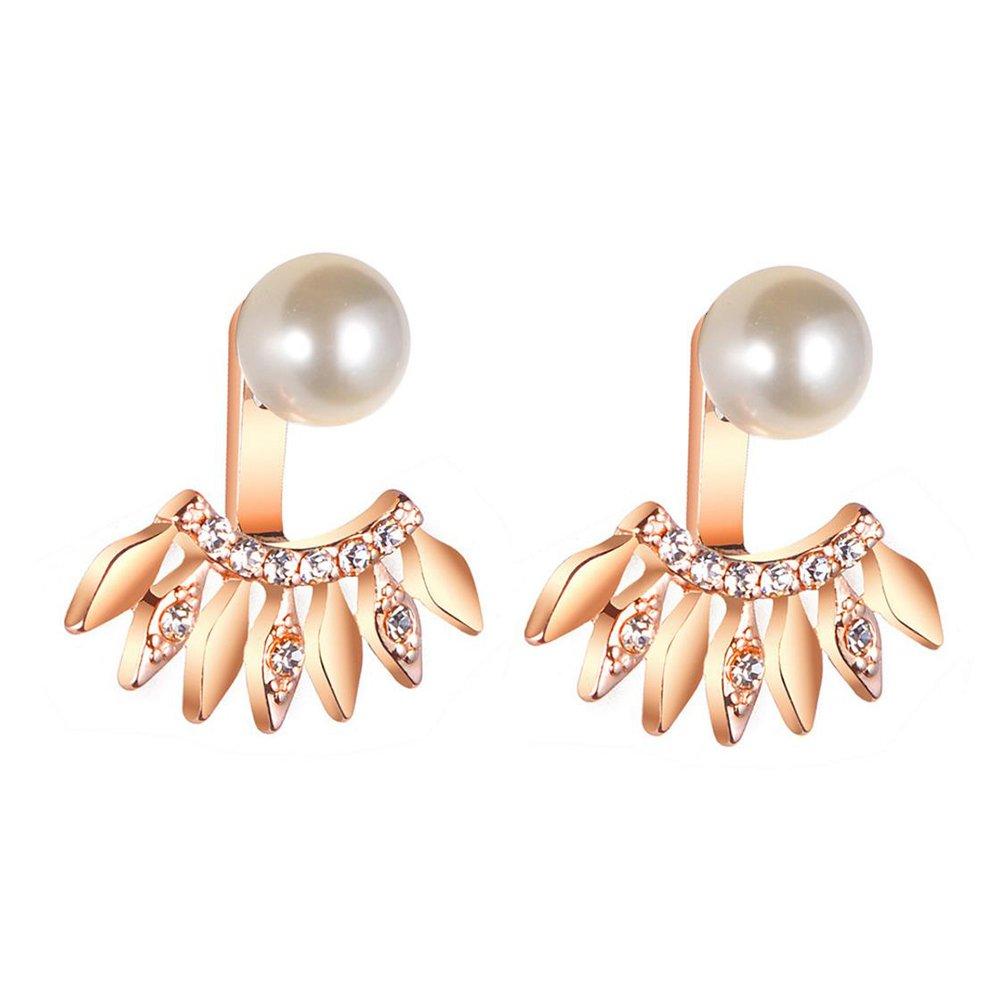 Hosaire Boucles d'oreilles de Femme Nouveauté Style Forme de Perle de zircon diamant Mode en Oreilles Percées Mariage Bijoux Cadeaux de l'amour