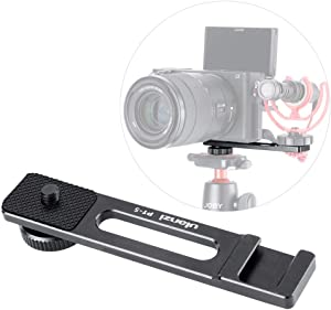 """PT-5 Camera Bracket for A6400 to Attach Microphone Cold Shoe Extension Mount 1/4"""" Compatible with Sony Alpha A6400 Mirrorless Digital Camera Canon G7 X Plate Filming Selfie Video Shooting Vlogging"""