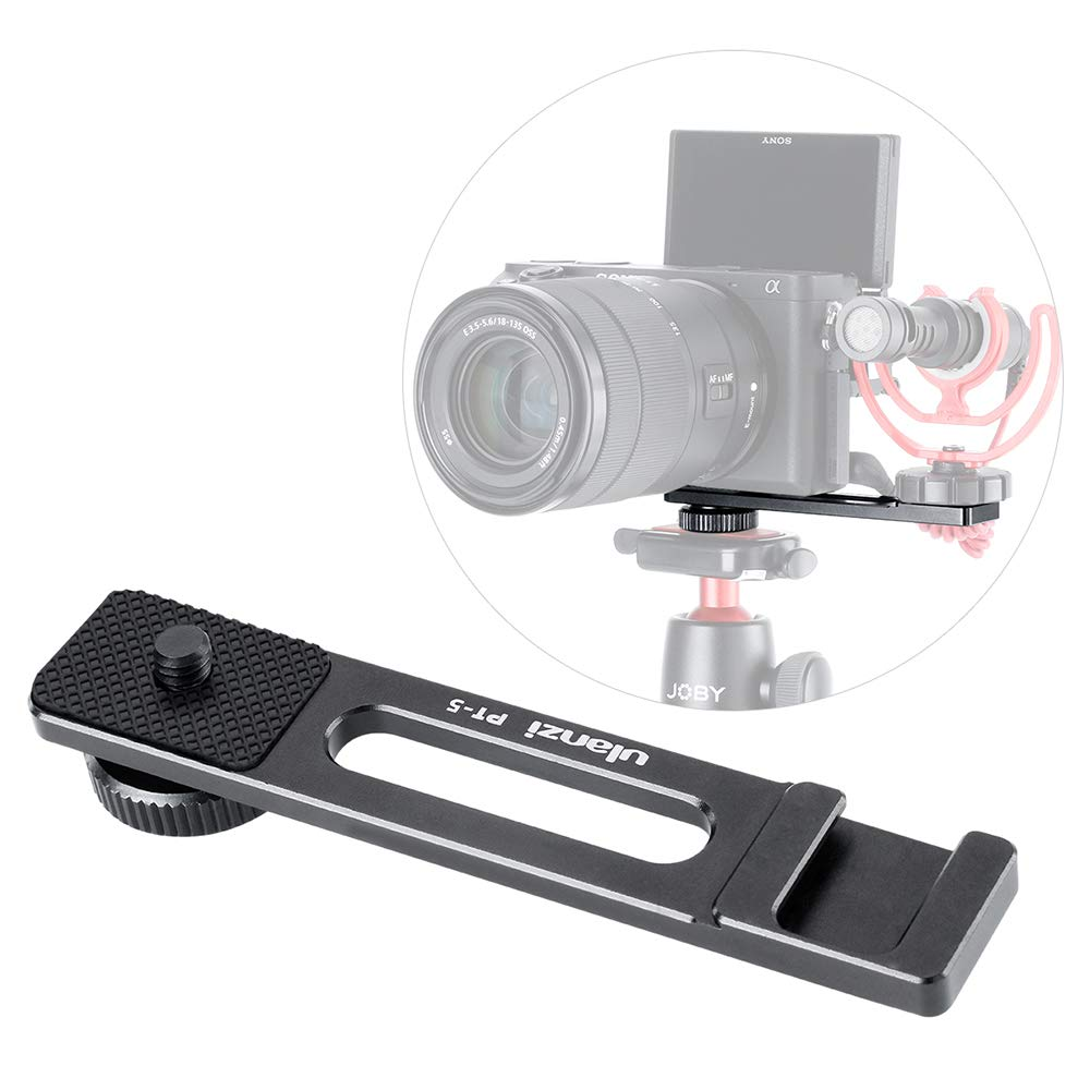 PT-5 Camera Bracket for A6400 to Attach Microphone Cold Shoe Mount 1/4'' Compatible with Sony Alpha A6400 A6000 Mirrorless Digital Camera Extension Plate Filming Selfie Video Live Streaming Vlogging by Yiliwit
