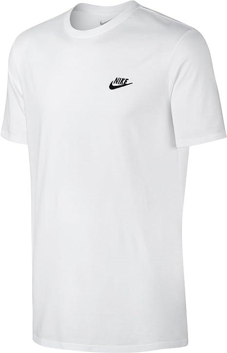 TALLA M. Nike M Nsw Tee Club Embrd Ftra, Camiseta de Manga Corta para Hombre
