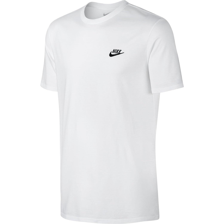 Nike M Nsw Tee Club Embrd Ftra, Camiseta de Manga Corta para Hombre, Blanco (White / Black), M