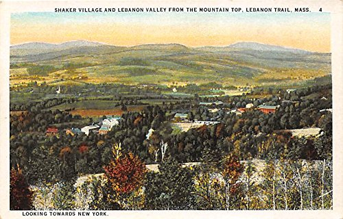 Shaker Village and Lebanon Valley from the Mountain Top Lebanon Trail, MA, USA Postcard