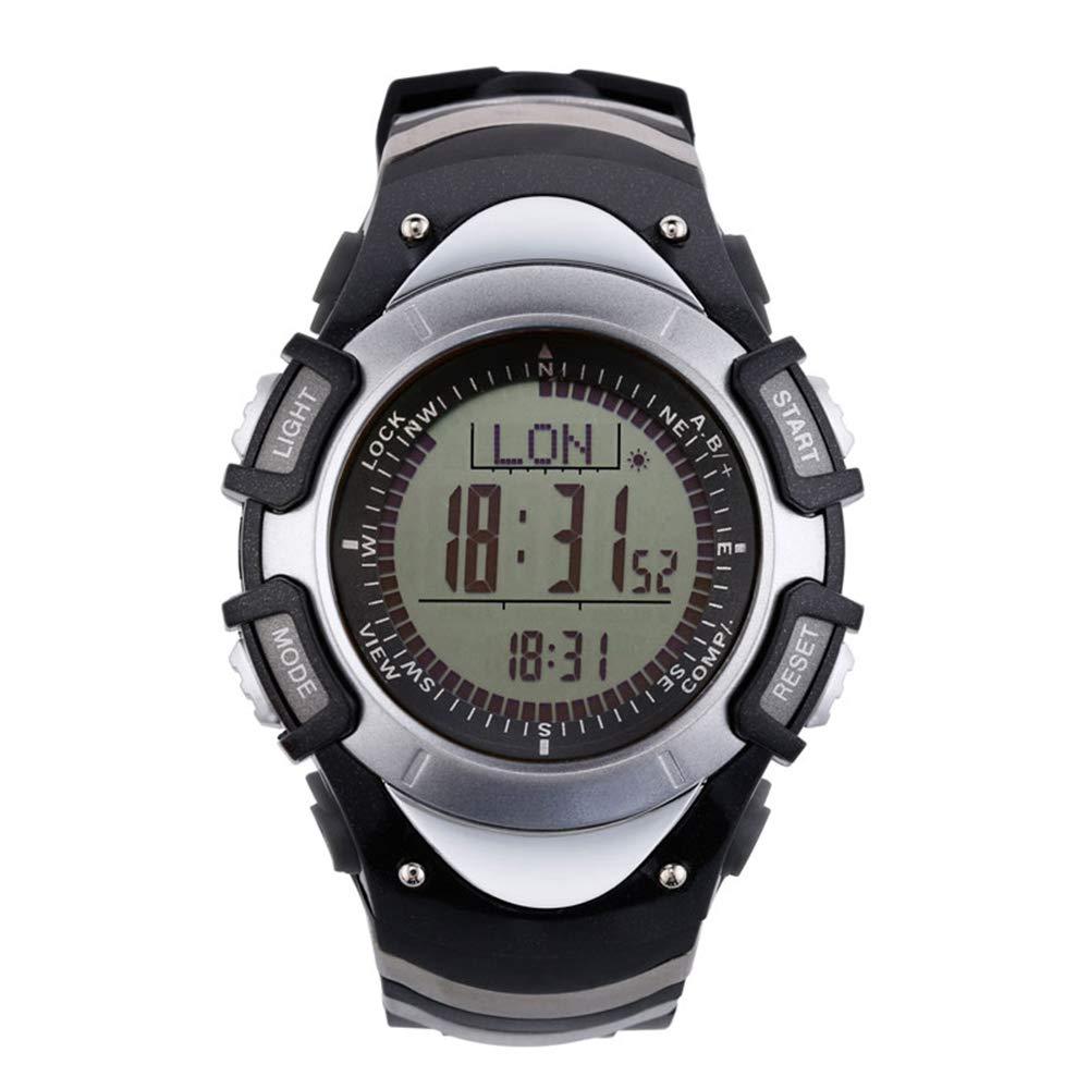 Sunroad impermeable FR8204A Digital altímetro brújula cronómetro deportes al aire libre hombres reloj–Barómetro podómetro Deportes al aire libre multifunción
