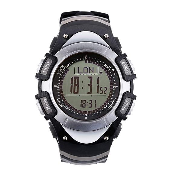 Sunroad impermeable FR8204 A Digital altímetro brújula cronómetro deportes al aire libre hombres reloj - Barómetro podómetro Deportes al aire libre ...