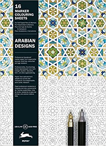 arabian patterns marker colouring sheets english spanish french