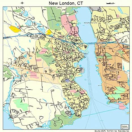 new london ct map