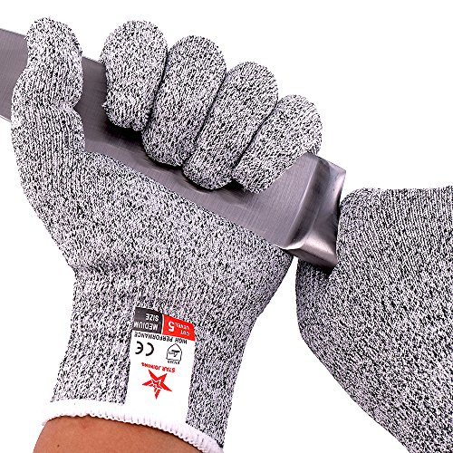 Cut Resistant Glove,Safety Kitchen Cut Glove-High Performance Level 5 Protection for Shucking,Fish Fillet Processing,Mandolin Slicing,Meat Cutting and Wood Carving,1 pair (Medium)