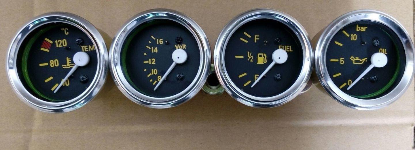 Temperatura C Kit de calibres Bar de presi/ón de aceite V medidor de combustible 52/mm el/éctricos