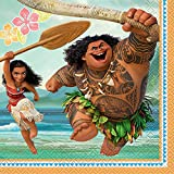 2 Sets of 16 Unique Disney Moana Party Napkins and 2 Sets of 8 Unique Disney 9 inches Moana Party Paper Plates bundled by Maven Gifts