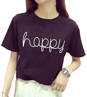 bf698dfb5cd1 BLACKOO Teen Girl Funny T Shirts Women Cute Tops Junior Graphic Tee Black  Small