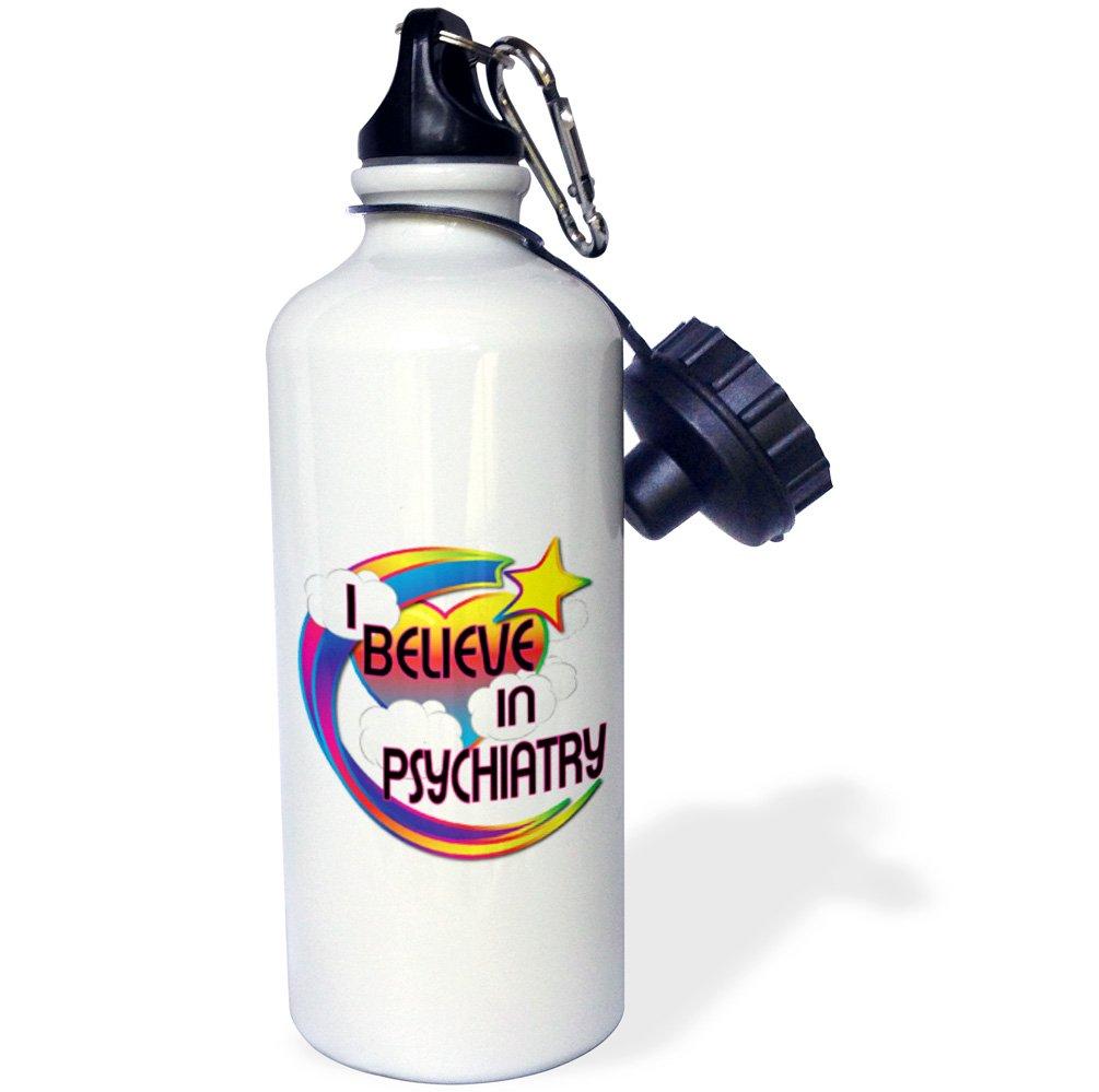 Multicolored 3dRose wb/_166790/_1 I Believe In Psychiatry Cute Believer Design Sports Water Bottle 21Oz