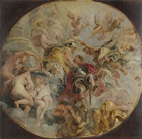 Oil Painting 'Peter Paul Rubens The Apotheosis Of The Duke Of Buckingham', 12 x 12 inch / 30 x 31 cm , on High Definition HD canvas prints is for Gifts And Foyer, Hallway And Home Office Decoration (Paul's Fruit Market Gift Basket)