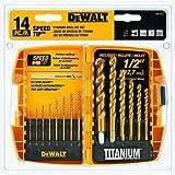 Best DEWALT Gardening Tool Sets - DEWALT DW1341 14-Piece Titanium Speed Tip Drill Bit Review