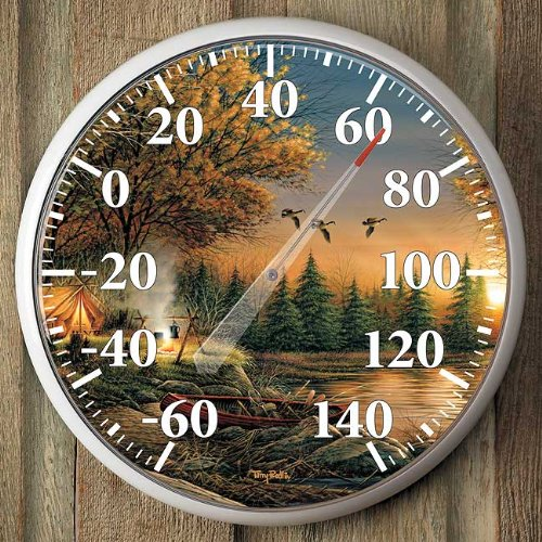 Solitude By Terry - Evening Solitude Camping Thermometer by Terry Redlin
