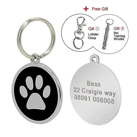 Placa de identidad Berry para perros y gatos con grabado personalizado